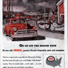 1952 MoPar Genuine Chrysler Cars Corp Parts & Accessories Ad Railroad Crossing
