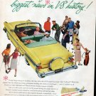 1957 Pontiac V 8 Convertible Yellow Car Ad