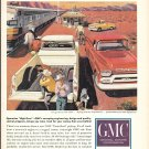 1959 GMC Pickup Trucks Cowboys At Train Station Ad