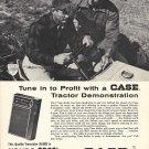 1964 Case Tractor Demo Ad GE Transistor Radio