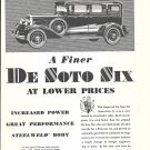 1930 DeSoto Six Car At Lower Prices Ad