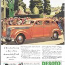 Old DeSoto Car Graduation Scene Ad