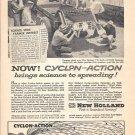1959 New Holland Cyclon Action Spreader Ad Brings Science