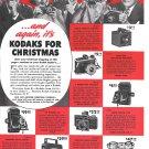 Old Kodak Cameras For Christmas 7 Models Ad