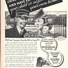 1937 Boston & Maine Railroad Children Love To Travel Ad
