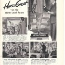 1949 New York Central Railroad Ad Houseguest On The Water Level Route