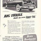 1949 Buick Roadmaster Car Big Thrill Ad