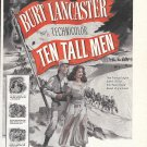 1951 Ten Tall Men Movie Promo Ad Burt Lancaster
