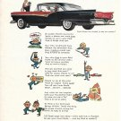 1957 Ford Fairlane Five Hundred Car Poetry On Wheels Ad