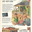 1953 The Home Insurance Co New Home Construction Ad