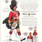 1937 White Label Scotch Whisky The Gordon Highlanders Ad