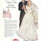 1953 Pepsi-Cola Soda Bride & Groom Ad