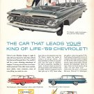 1959 Chevrolet Cars Nomad Brookwood Parkwood Kingswood Station Wagons Ad