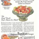 1926 California Sunkist Oranges Break It Apart Ad