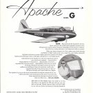 1960 Piper Apache Model G Plane Ad
