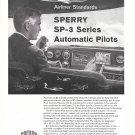 1960 Sperry SP-3 Seires Automatic Pilots Cockpit Plane Ad