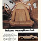 1974 Chevrolet Monte Carlo Car Welcome To Sunny Ad