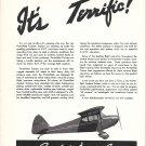 1941 Porterfield Tandem Trainer Planes Ad It's Terrific !
