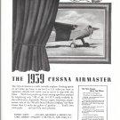 1939 Cessna Airmaster Plane Ad