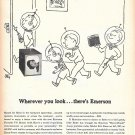 1955 Emerson Portable TV Television Bound For Mars Ad