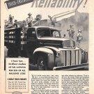1945 Ford Motor Trucks Reliability Ad