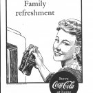 1947 Coca-Cola Soda At Home Family Refreshment Ad