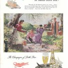 1948 Miller High Life Beer Old Fashioned Picnic Ad