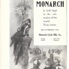 1898 Monarch Cycles Ad Is Held High In The World