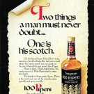 1971 Seagram's 100 Pipers Scotch Whisky Ad Two Things A Man