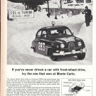 1964 Saab Car Monte Carlo Rally Ad