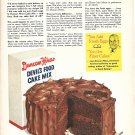 Old Duncan Hines Devil's Food Cake Mix Ad Best At The PTA Supper