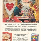 1957 Borden's Starlac Milk Elsie The Cow & Family Breakfast Ad