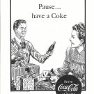 1946 Coca-Cola Soda Wrapping Christmas gifts Ad Pause