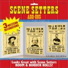 Scene Setters Wild West Saloon-WANTED 3pk