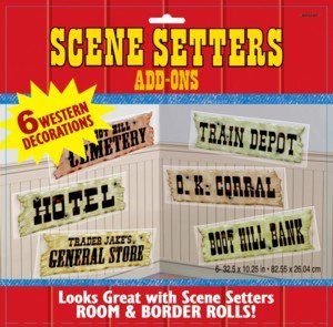 Scene Setters Wild West Saloon Signs-6pk