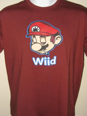 Mario Brothers Wiid / Nintendo Wii Spoof Men T-Shirt XL