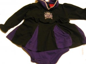 New NBA Sacramento Kings Infant Onesie Baby Girl size 6/9M FREE SHIPPING!