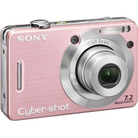 Sony DSC-W55 7.2MP Digital Camera 3x Optical Zoom (Pink) FREE SHIPPING!