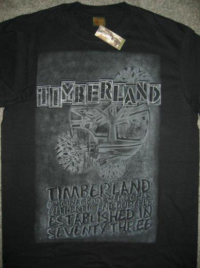 New Timberland Men T-Shirt Black Size Large L Timbs FREE SHIPPING!