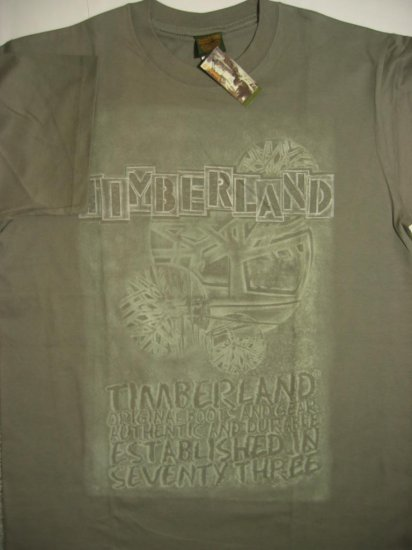 New Timberland Men T-Shirt Green Size Large L Timbs FREE SHIPPING!