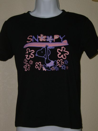 NWT SNOOPY Surfer Peanuts Women Shirt size Medium M FREE SHIPPING!