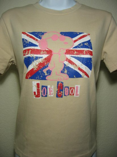 NWT SNOOPY UK Flag Peanuts Women Shirt size Medium M FREE SHIPPING!