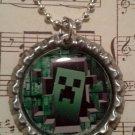 Minecraft Creeper Breaking Through Necklace