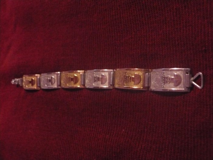 Sterling Silver and Gold Handmade Bracelet