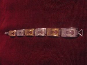 Sterling Silver and Gold Handmade Bracelet