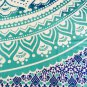 New Indian Turquoise Ombre Mandala Hippie Bohemian Double 2 Pillow Cover Wall Hanging