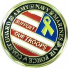 Support Our Troops Armed Forces Coin
