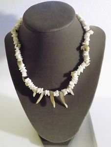 White Puka Shell Necklace 16 Inch