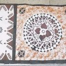 Vintage Fiji Tapa Masi Barkcloth 114 inch x 20 Inch