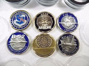 6 Medals US Army Ah-64, Airforce B-52, Army Nationals,KC-135, F35